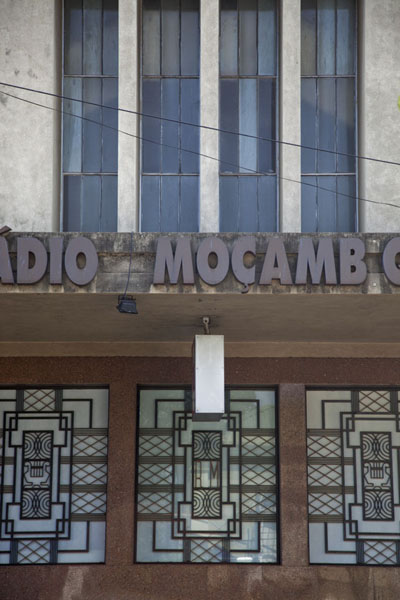 Detail of the Radio Moçabique building in downtown Maputo | Maputo colonial | Mozambique