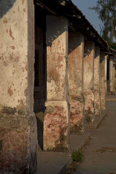 Many houses in Ibo have pillars | Ibo | Mozambique