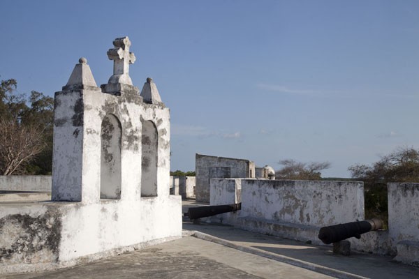 Picture of Ibo (Mozambique): Chapel on the roof of the main, star-shaped fortress of Ibo, Fortaleza de São João Baptista