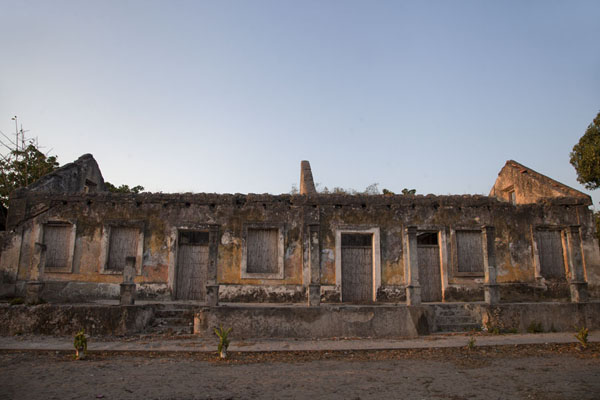 One of the many colonial buildings in ruins at sunset on the main street of Ibo | Ibo | Mozambique