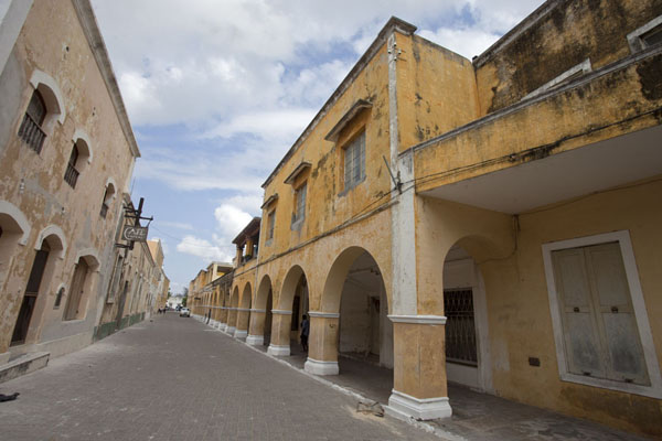Picture of Ilha de Moçambique (Mozambique): Arched walkway on one of the main street of the old part of Ilha de Moçambique