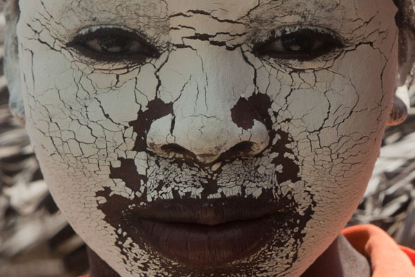 Picture of Girl face covered in musiroMatemo - Mozambique