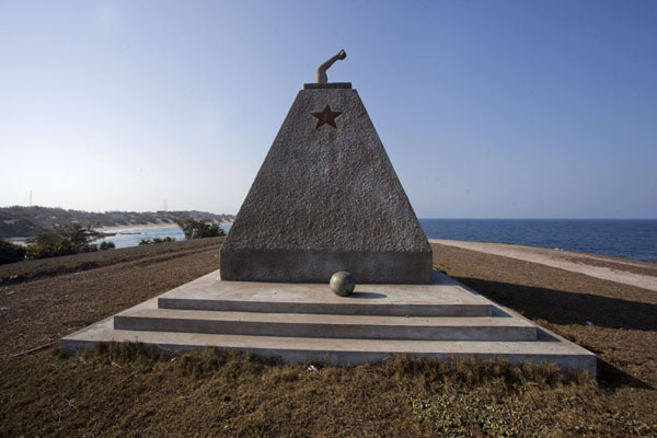 Picture of Tofinho Monument, in memory of those independence fighters killed by the Portuguese - Mozambique - Africa