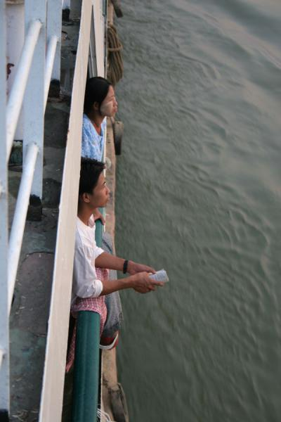 Enjoying the view over the Ayeyarwady from the boat | Ayeyarwady Boat | Myanmar (Burma)
