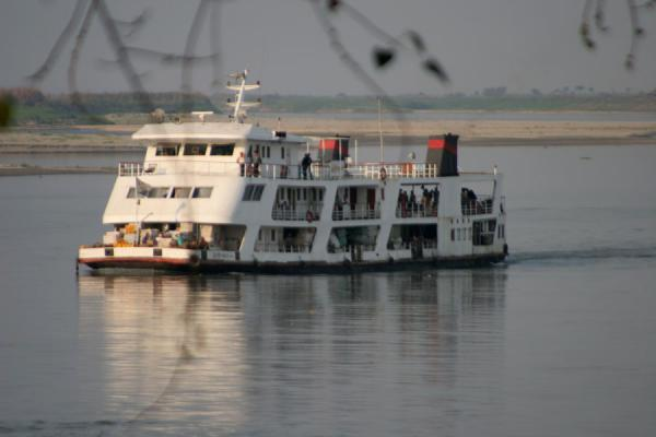 The boat approaching Katha | Ayeyarwady Boat | Myanmar (Burma)
