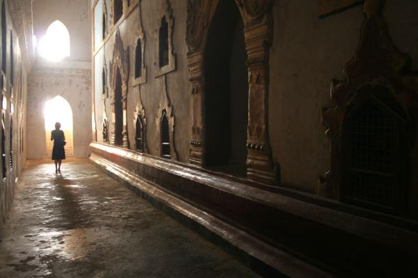 Picture of Myanmar (Burma) (Light inside Ananda Pahto, Bagan)
