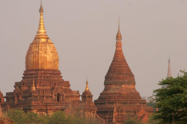 Spires of temples at Bagan sunrise | Bagan | Myanmar (Burma)