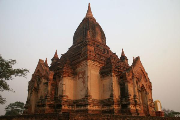 Picture of Contours of temple before sunset at Bagan