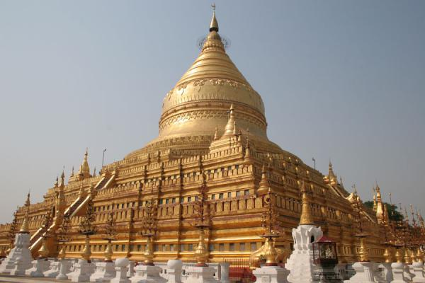 Picture of Shwezigon Paya is one of the major temples of Bagan