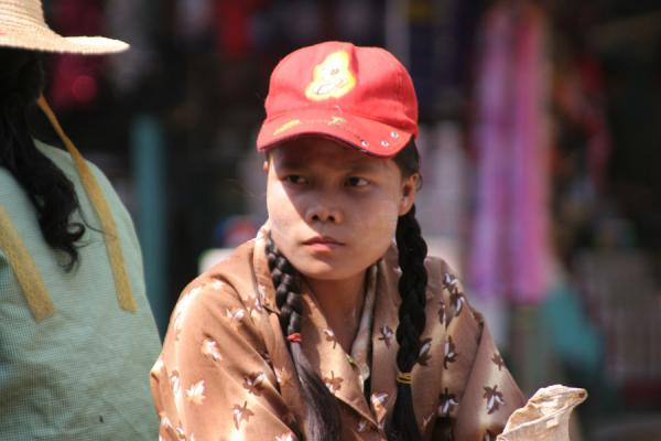 Picture of Burmese girl with plaids and cap