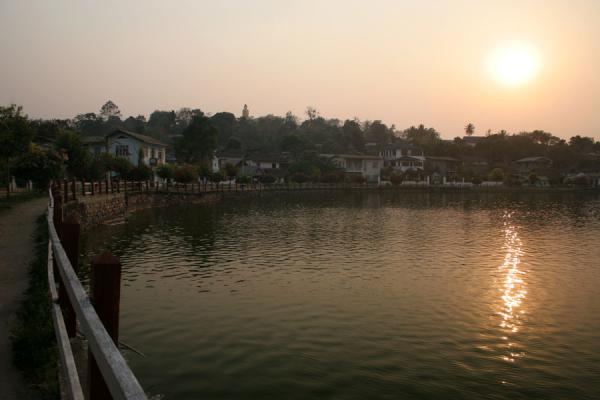 Picture of Sunset over Naung Tung lake in Kengtung