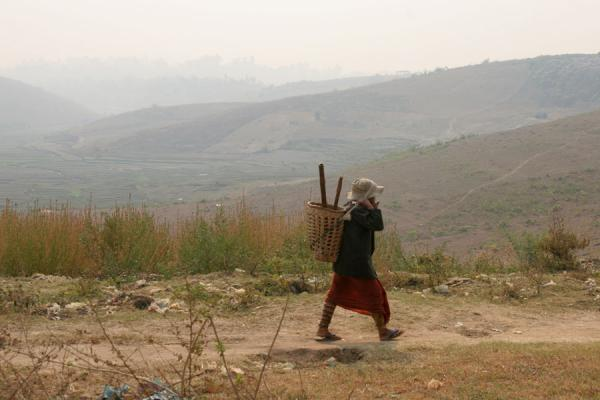 Woman walking in the hills near Kengtung | Kengtung | Myanmar (Birmanie)