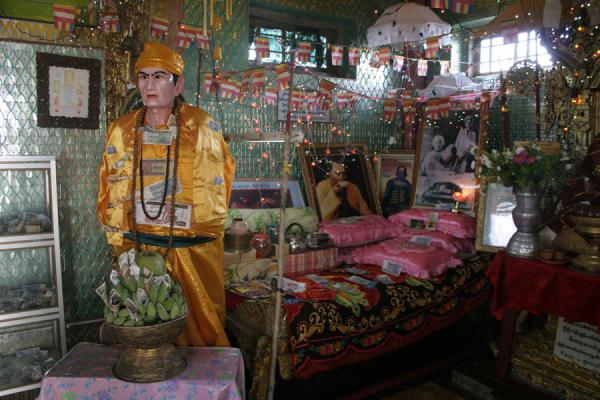 The chamber with nat, or spirits, reminding of Madam Tussaud with rock stars | Mount Popa | Myanmar (Burma)