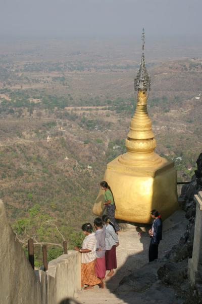 Golden stupa just under the top of Mount Popa | Mount Popa | Myanmar (Burma)