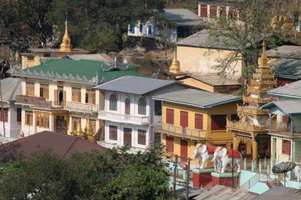 Some houses of the Mount Popa village | Mount Popa | Myanmar (Burma)