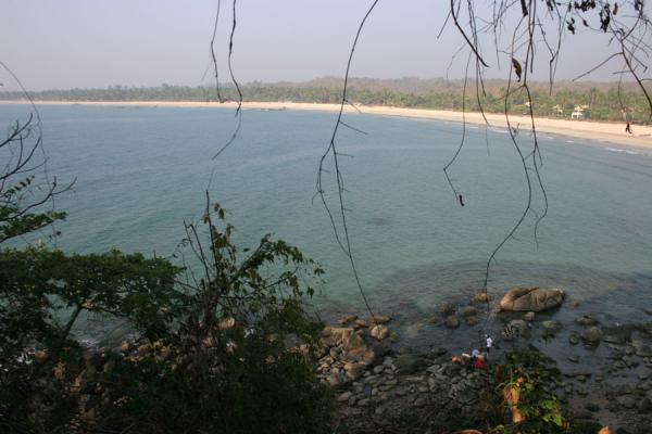 Picture of Ngwe Saung Beach: part of the bay seen from above
