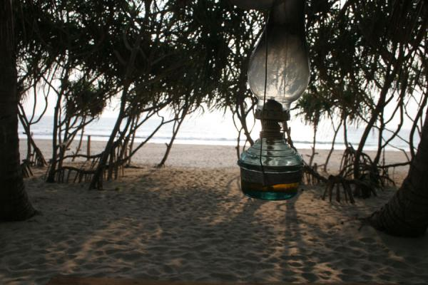 Picture of Oillamps at restaurant on Ngwe Saung Beach