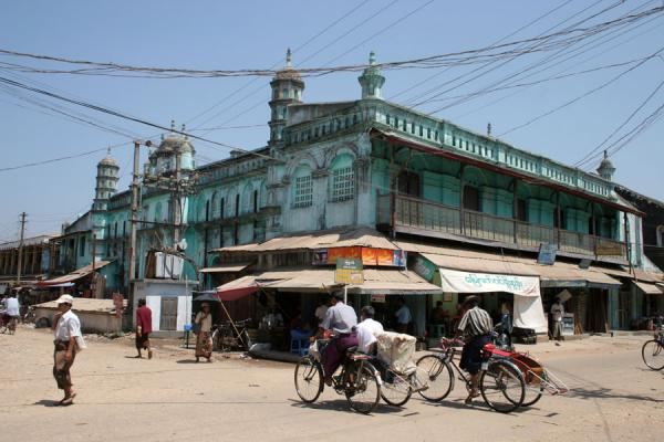 Picture of Pathein (Myanmar (Burma)): Trishaws in the streets of Pathein
