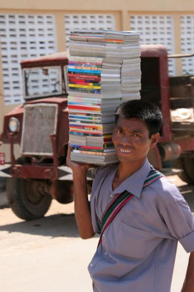 Picture of Bookseller in the streets of Pathein