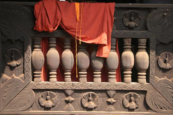 Monk robe hanging from wooden monastery | Royal Cities | Myanmar (Burma)