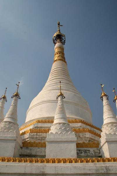 Picture of White stupa at Maha Aungmye Bonzan monastery at Inwa - Myanmar (Burma) - Asia