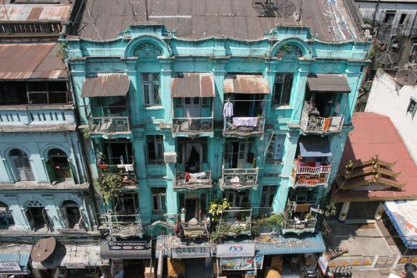 Picture of Yangon (Myanmar (Burma)): Typical house in central Yangon seen from above