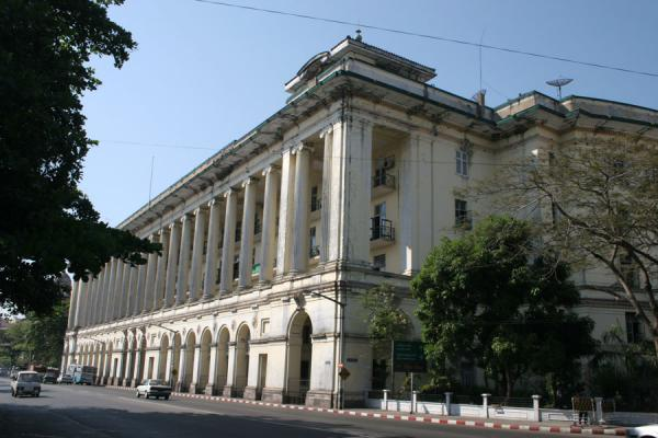 Picture of Yangon (Myanmar (Burma)): Law Court building on the Strand in Yangon