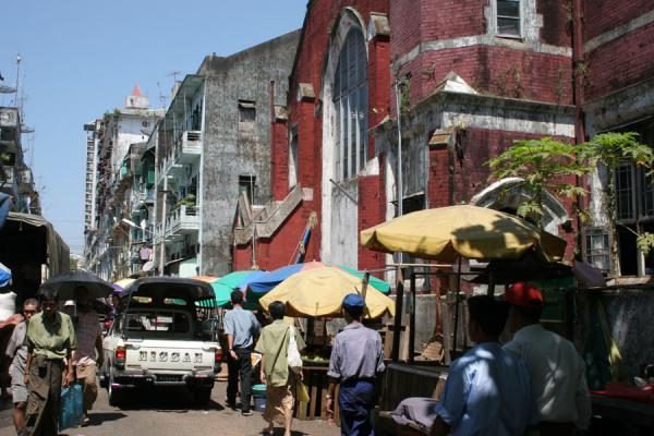 Picture of Yangon (Myanmar (Burma)): Central Yangon: hustle and bustle in one of the side streets