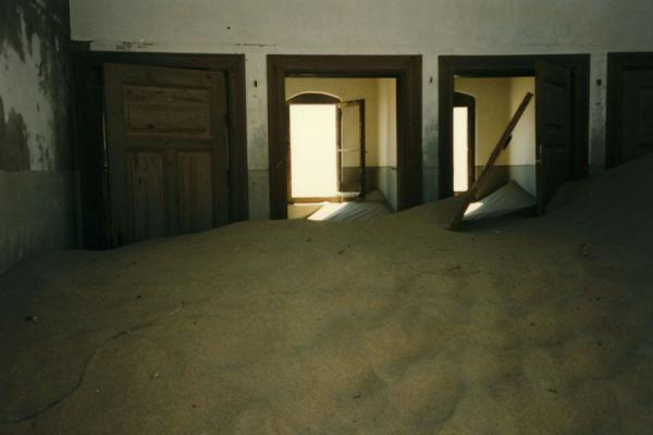 Picture of Most houses are inhabitated by sandKolmanskop - Namibia