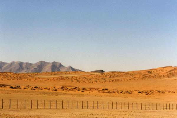 Picture of Grey roads, redNamibian Roadsides - Namibia