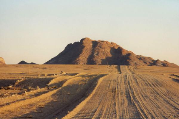 Road and rocky hill in Namibia | Namibian roads | Namibia