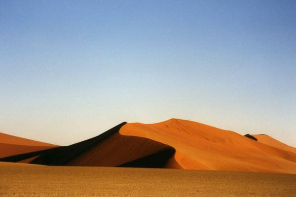 Sand dunes before sunset: orange and red colours prevail | Sesriem | Namibia