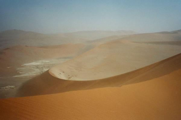 View from a sand dune | Sesriem | Namibia