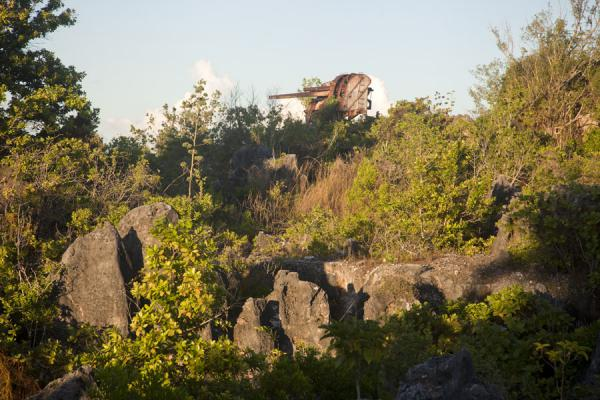 Photo de Japanese anti-aircraft installation behind the rubbish tip, not far from Command RidgeAiwo - Nauru