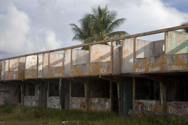 Abandoned barracks where foreign mine workers were once housed | Nauru Coast | Nauru