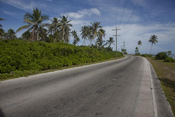 Coastal road in the northeast of Nauru | Nauru Coast | Nauru