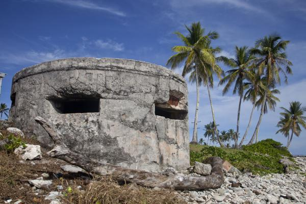 Ruins of a Japanese World War II bunker on the beach on the northeast of Nauru | Nauru Coast | Nauru