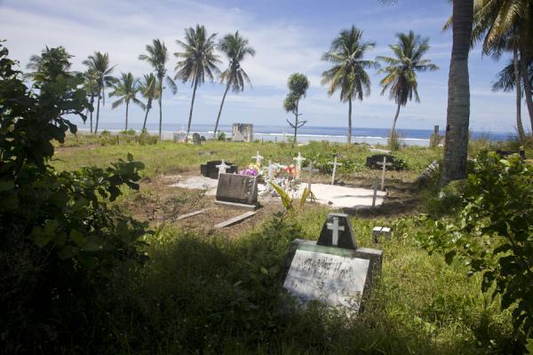 One of the cemeteries bordering the coast in the southwest of Nauru | Nauru Coast | Nauru