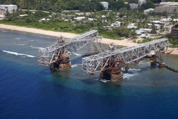 Picture of Nauru Phosphate Cantilevers (Nauru): Cantilever 1 seen from the air