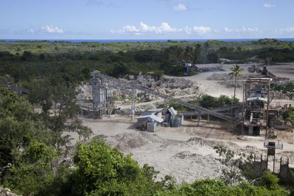 Picture of Topside landscape (Nauru): Mining has resumed on the phosphate-rich island of Nauru
