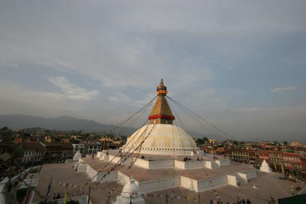 Picture of Boudha Stupa (Nepal): Boudha stupa above the Bodnath quarter of Kathmandu