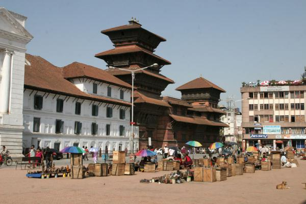 Street stalls south of the Old Royal Palace on Basantapur Square | Durbar Square | Nepal