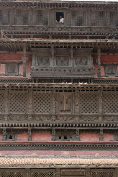 Old Royal Palace decorated with woodwork | Durbar Square | Nepal