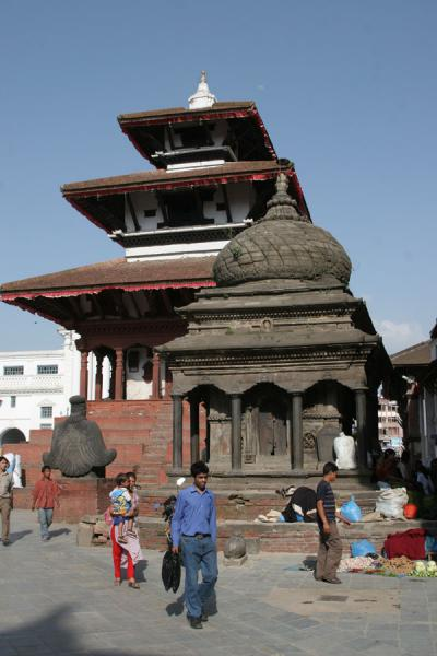 People walking down Durbar Square | Durbar Square | Nepal