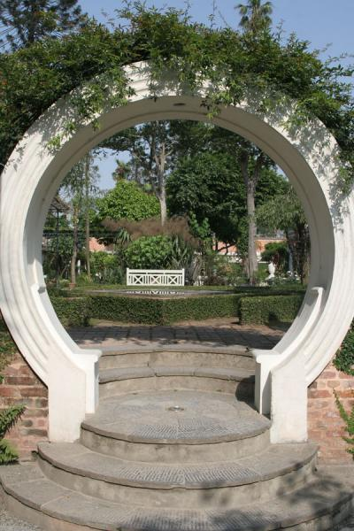 Circular shaped gate in the Garden of Dreams | Garden of Dreams | Nepal