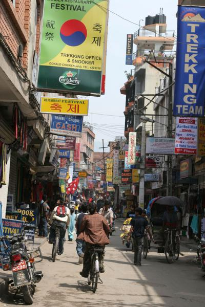 Picture of Thamel street, the backpacker area of Kathmandu