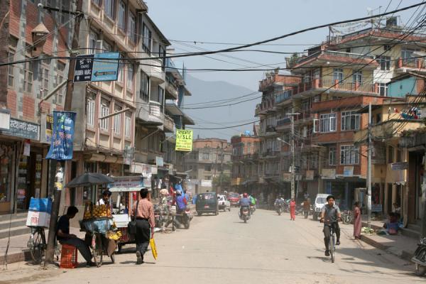 的照片 Street in Kathmandu - 尼泊尔