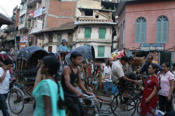Crowd of people in the streets of Kathmandu | Kathmandu streets | Nepal