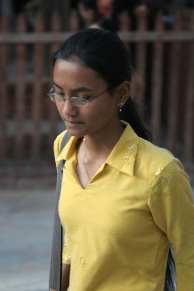 Young Nepali woman on Durbar Square | Nepali people | Nepal