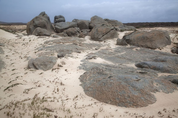 Rock formations at Arashi, the northwest point of Aruba | Arashi point nordoest | Antilles Néerlandaises